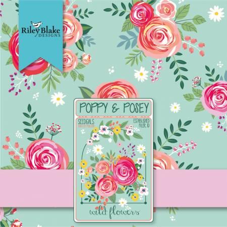 Poppy And Posey Fat Quarter, 21pcs