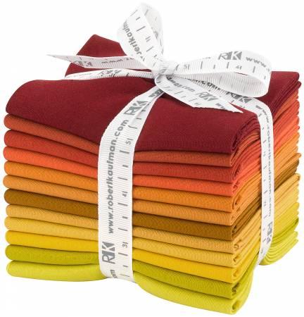 Fat Quarter Bundle - Kona Cotton Autumn Hues Palette 12pcs