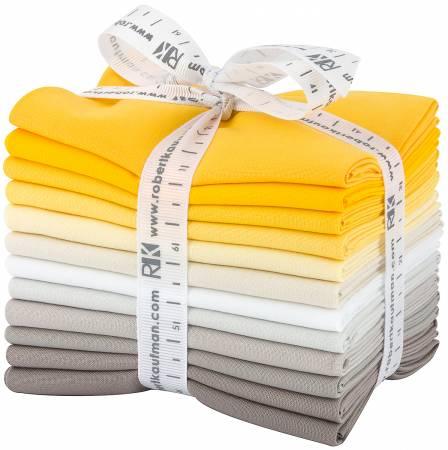 Fat Quarter Kona Cotton Sunny Side Up Palette, 12pcs/bundle