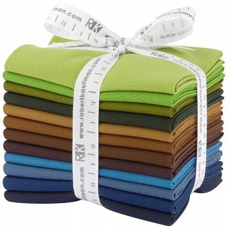 Fat Quarter Kona Cotton Adventure Palette, 12pcs/bundle