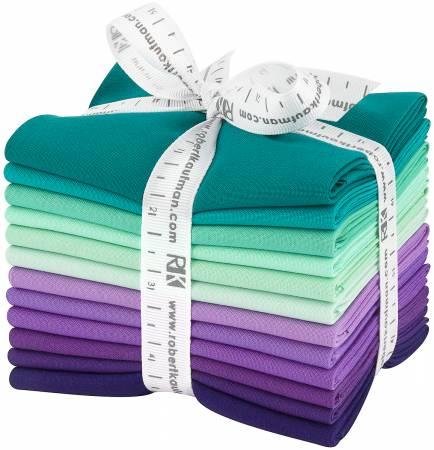 Fat Quarter Kona Cotton Aurora Palette, 12pcs/bundle