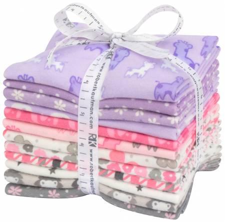 Pink/Purple Cozy Cotton Flannel - 12 FQs