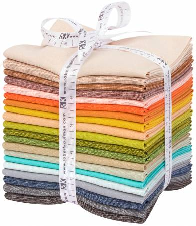 Adventure essex yarn dye coordinates - fat quarter bundle - 20pcs bundle