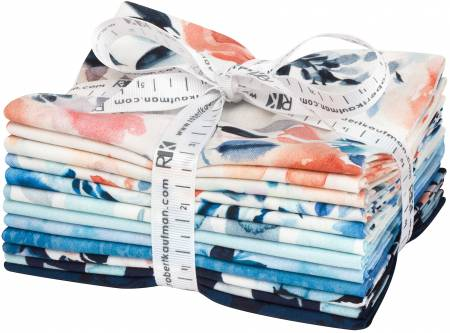Chelsea, Fat Quarter Bundle, 12 pcs/bundle - by Stephanie Ryan for Robert Kaufman