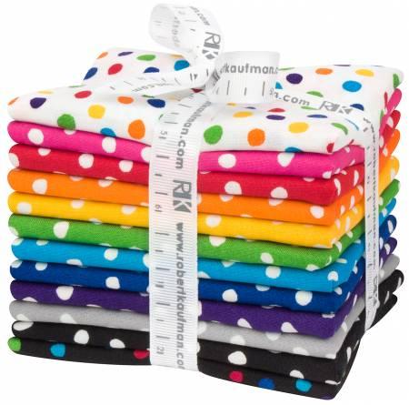 Dot & Stripe Delight Small Dot  Fat Quarters 12ct