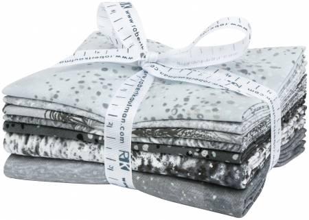First Snow - Ice Fat Quarter Bundle*Metallic* 7pc/bundle - By Studio RK For Robert Kaufman Fabrics