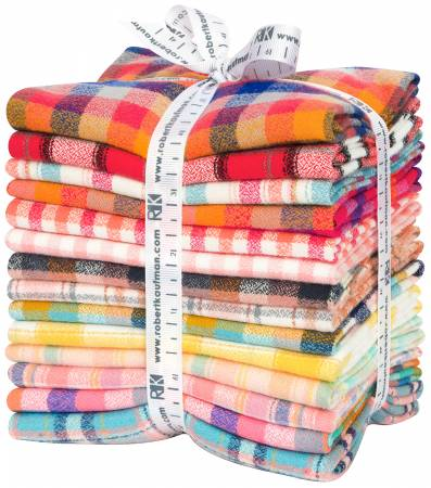 Fat Quarter Mammoth Junior Flannel, Warm, 14pcs/bundle