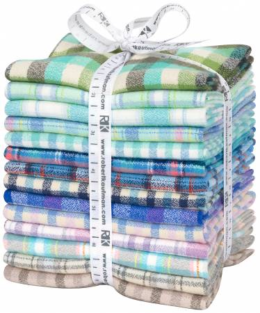 Fat Quarter Mammoth Junior Flannel, Cool, 14pcs/bundle