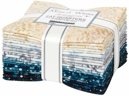 Robert Kaufman Artisan Batiks Fat Quarter Magical Winter Batik 20pcs