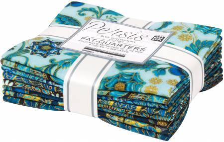 Fat Quarter Persis Blue, 8pcs/bundle