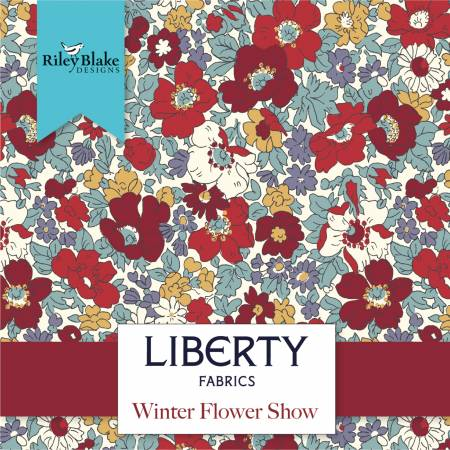 Fat Quarter Winter Flower Show, 15pcs