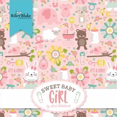 Sweet Baby Girl Fat Quarter Bundle, 21pcs/bundle