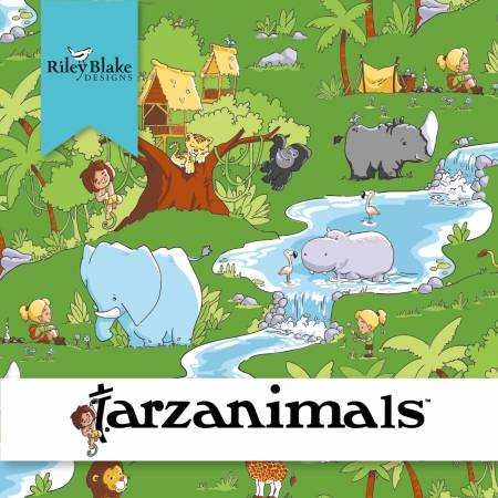 Tarzanimals Fat Quarter Bundle, 15pcs/bundle
