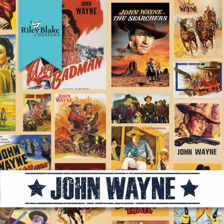 John Wayne Fat Quarter Bundle, 17 FQs