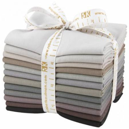 Robert Kaufman Fat Quarter Bundle Kona Cotton Gray Area 12pcs