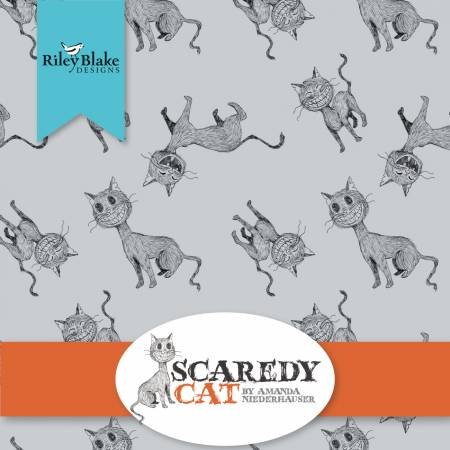 Scaredy Cat Fat Quarter Bundle by Anna Nederhauser for Riley Blake Designs