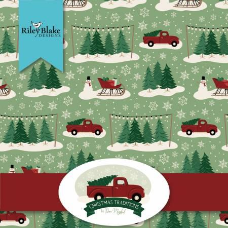 Christmas Traditions Fat Quarter Bundle, 24pcs