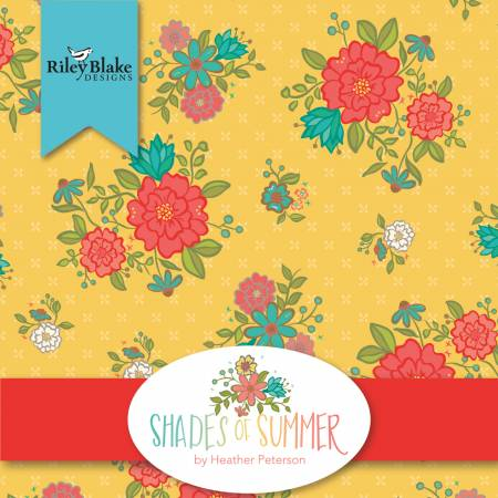 Shades Of Summer Fat Quarter, 21pcs, 3 bundles/pack