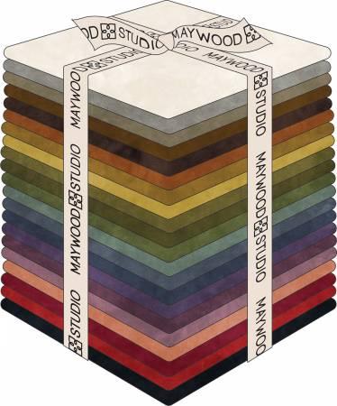 Fat Quarter Bundle Color Wash Flannel 21pcs