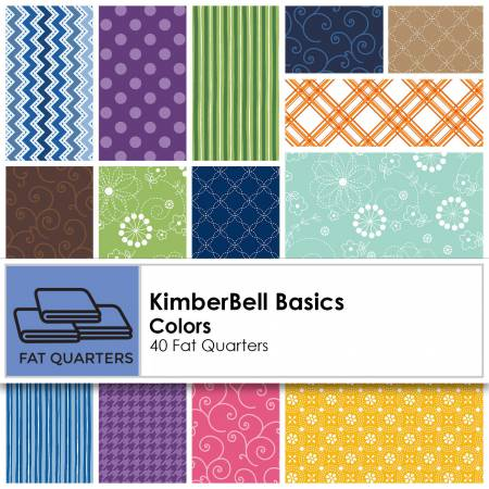 Fat Quarter Kimberbell Basics Colors 40pcs