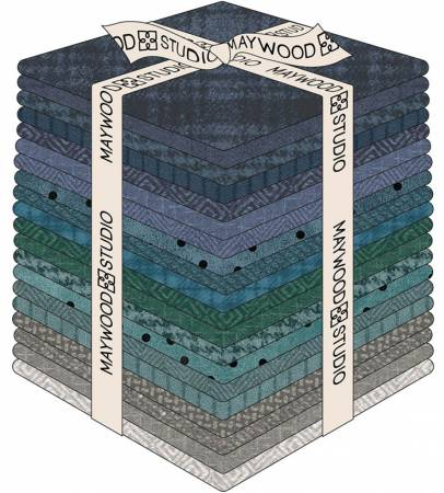 Woolies Flannel Stormy Seas - 20 Fat Quarters