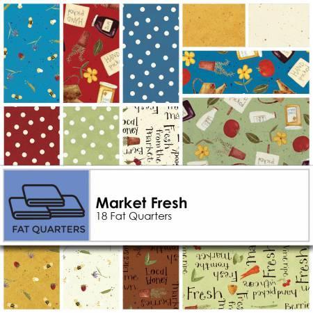 Fat Quarter Bundle Market Fresh 17pcs does not include Y2158-57