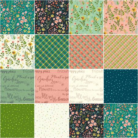 Fat Quarter Garden Notes, 15pcs/bundle