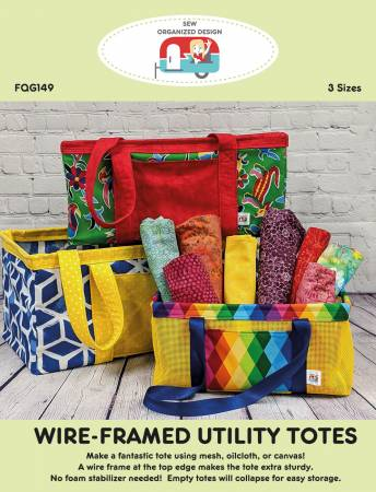 Wire-Framed Utility Totes Pattern