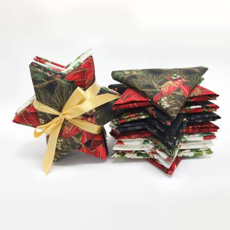 Fat Quarter Jingle Star Gold 15pcs