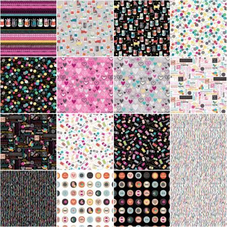 Fat Quarters Knit Together, 15pcs/bundle