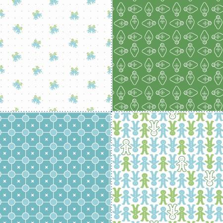 Cozy Christmas Fat Quarter Panel Green