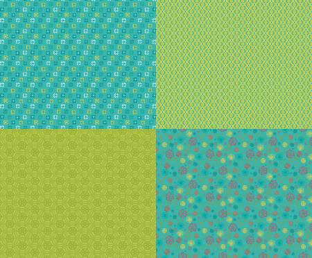 Shades Of Summer Fat Quarter Panel Green