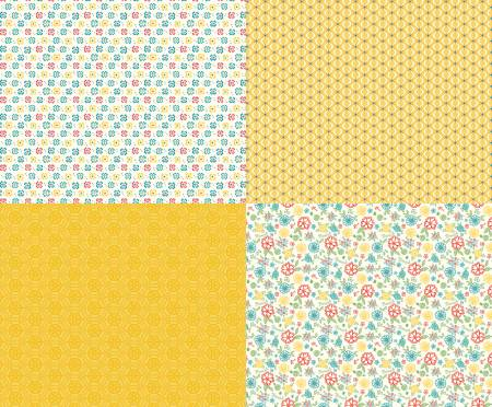 Shades Of Summer Fat Quarter Panel Yellow