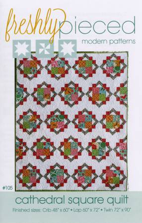 Cathedral Square Quilt Pattern by Freshly Pieced