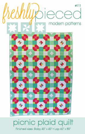 Picnic Plaid Quilt Pattern by Freshly Pieced