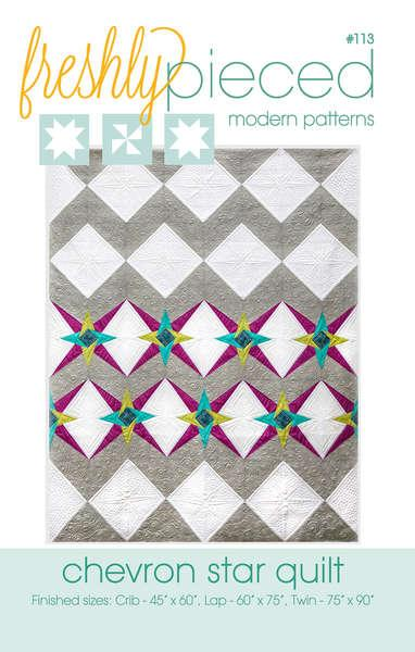 Chevron Star Quilt Pattern by Freshly Pieced