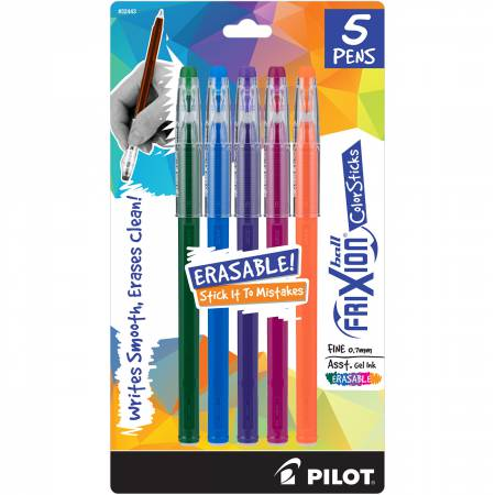 FriXion Ball Color Sticks Fashion Asst Hunter Grn, Blue, Purple, Magenta and Org