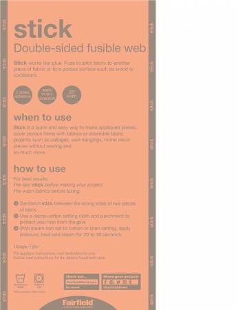 Stick Double Sided Fusible Webbing 20in