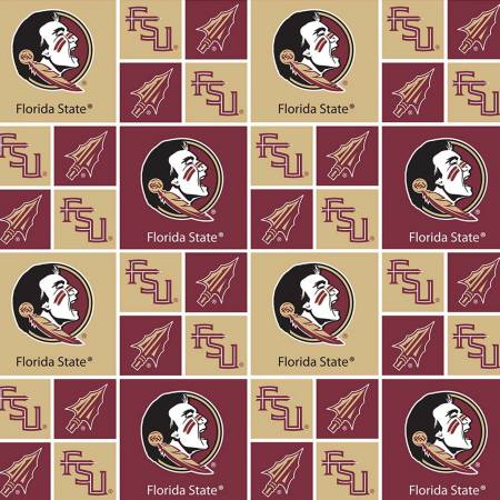 Licensed:  FSU Florida State Seminoles 4 Patches and Single Patches Blocks by Sykel Enterprises