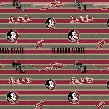 Licensed: FSU Florida State Seminoles Logos and Arrows on Stripes by Sykel Enterprises
