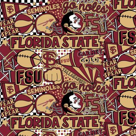FSU  Seminoles Pop Art Cotton Digital