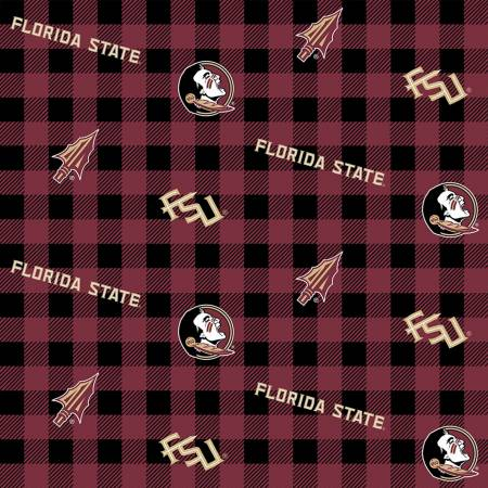 Florida State Buffalo Plaid Cotton