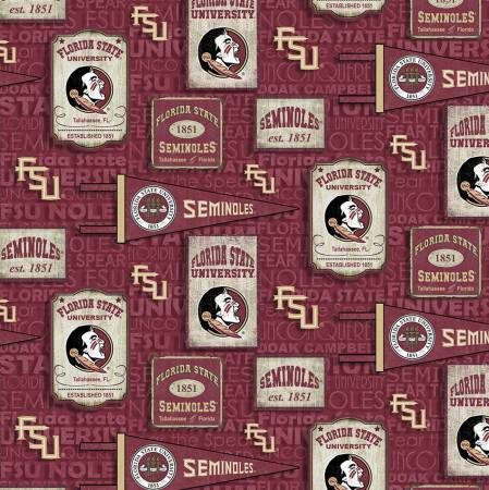 Florida State University Seminoles Vintage Pennant Cotton FSU-1267