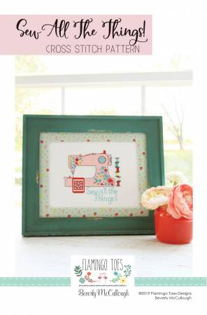Sew All The Things Cross Stitch Pattern Flamingo Toes