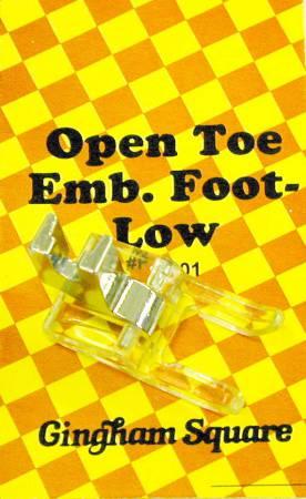 Open Toe Presser Foot Low Shank