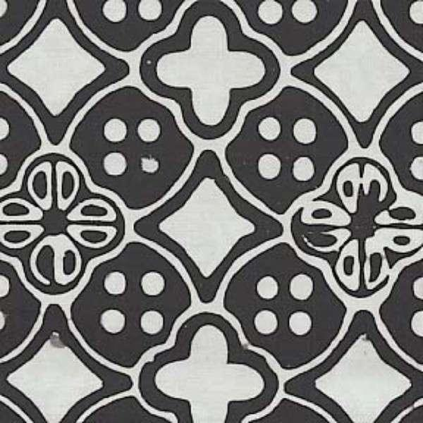 Black/White Diamonds & Pebbles Batik FTC2005