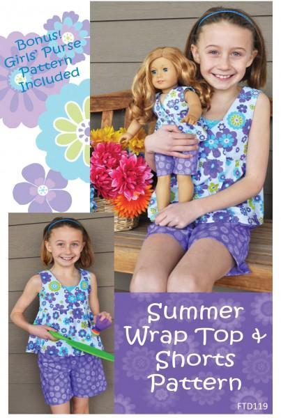 Summer Wrap Top & Shorts
