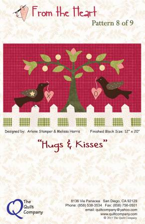 From The Heart Hugs & Kisses Block 8 of 9 Block of the Month
