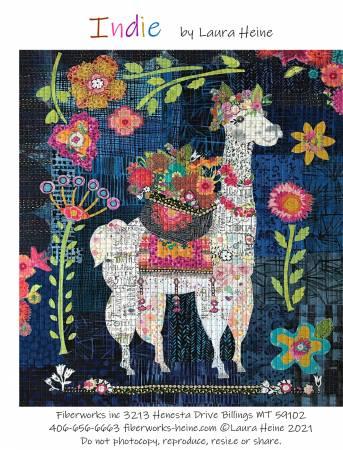Indie...The Llama Collage Pattern by Laura Heine