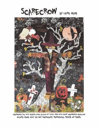 Scarecrow Collage Pattern by Laura Heine